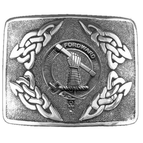 Balfour Tartan Clan Crest Interlace Kilt Belt Buckle | Scottish Clans