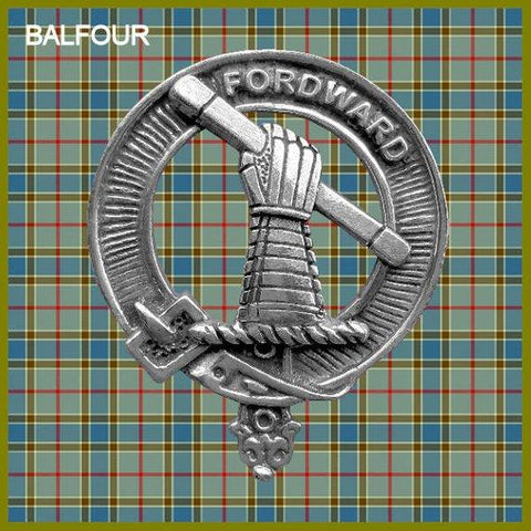 Balfour Clan Crest Interlace Kilt Buckle