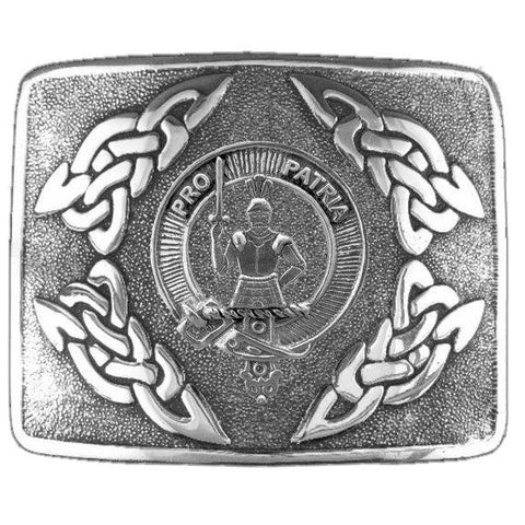Bannerman Clan Crest Interlace Kilt Buckle | Scottish Clans