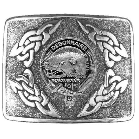Bethune Clan Crest Interlace Kilt Buckle | Scottish Clans