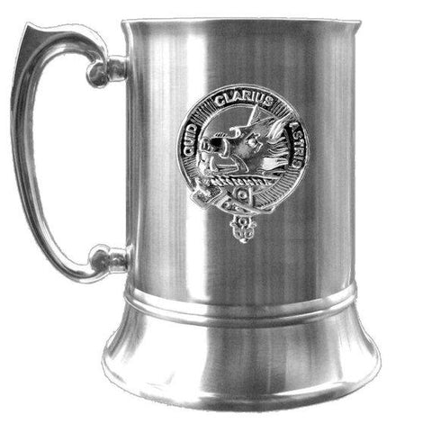 Baillie Tartan Scottish Clan Crest Badge Tankard | scottishclans.co