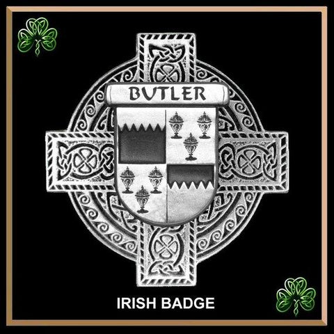Butler Irish Tartan Clan Crest Badge Leather Sporran TH8