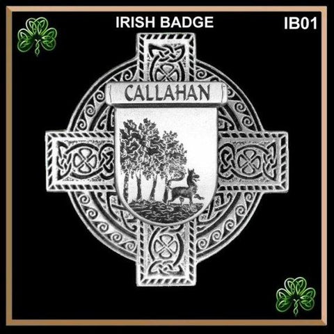 Callahan Irish Tartan Clan Crest Badge Leather Sporran TH8