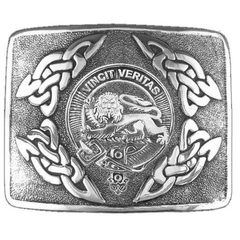 Baxter Clan Crest Interlace Kilt Buckle