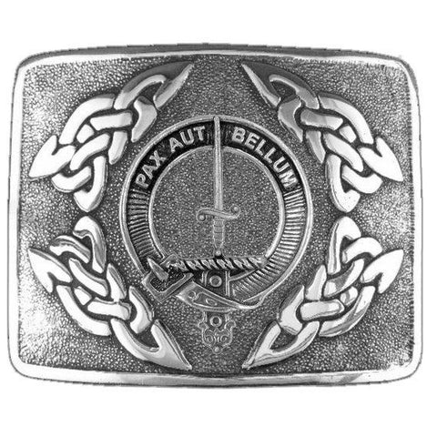 Blaine Clan Crest Interlace Kilt Buckle | Scottish Clans