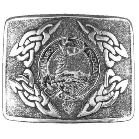 Blair  Clan Crest Interlace Kilt Buckle