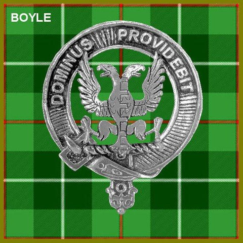 Boyle Tartan Clan Crest Interlace Kilt Belt Buckle TH8