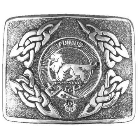 Bruce Clan Crest Interlace Kilt Buckle | Scottish Clans