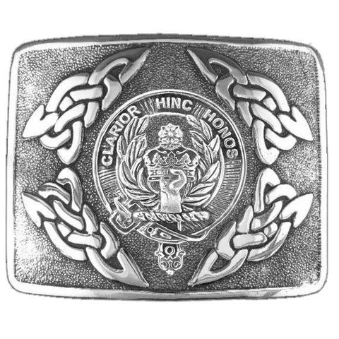 Buchanan Clan Crest Interlace Kilt Buckle