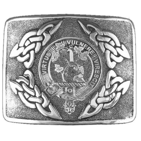 Burnett Clan Crest Interlace Kilt Buckle | Scottish Clans