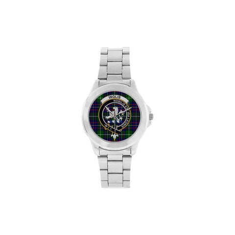 Inglis Modern Tartan Clan Badge Custom Gilt Watch