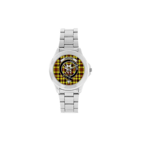 Jardine Tartan Clan Badge Custom Gilt Watch