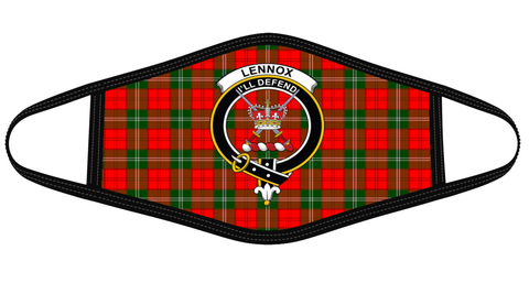 Lennox Modern Clan badge Tartan Mask K7