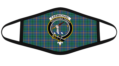 Image of Carmichael Ancient Clan badge Tartan Mask K7