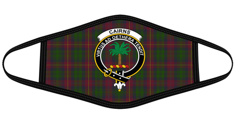 Cairns Clan badge Tartan Mask K7