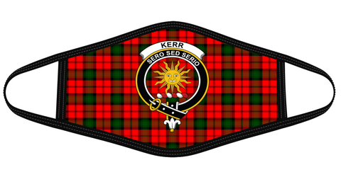 Kerr Modern Clan badge Tartan Mask K7
