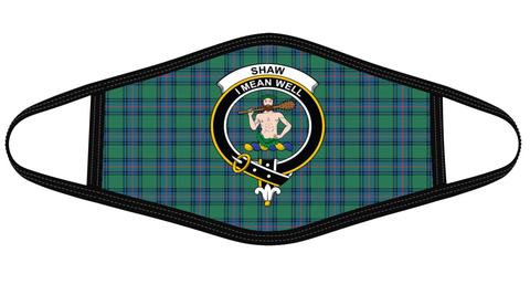 Image of Shaw Ancient Clan badge Tartan Mask K7