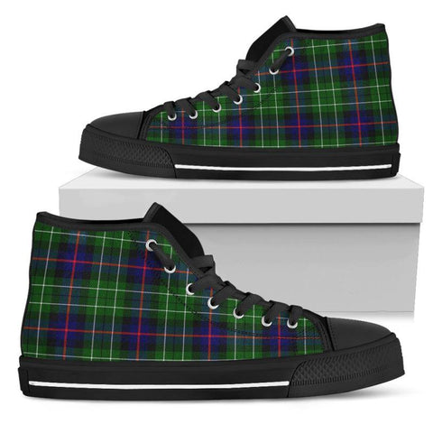 Tartan Canvas Shoes - Leslie Hunting High Top | Over 500 Tartans