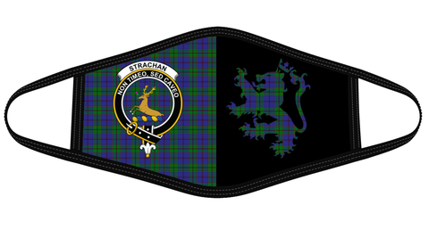 Image of Strachan Clan Badge Lion Mask Tartan Version 2 K6