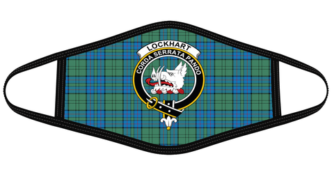 Lockhart Clan badge Tartan Mask K7