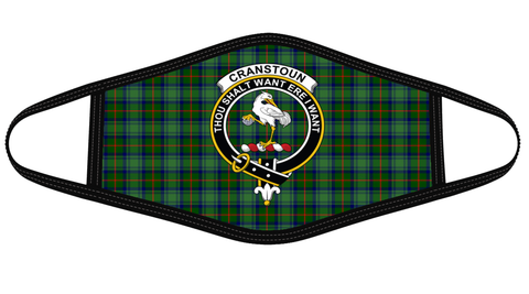 Cranstoun Clan badge Tartan Mask K7