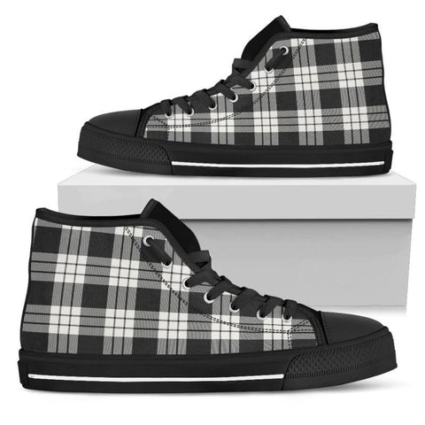 Tartan Canvas Shoes - Macfarlane Black & White High Top | Over 500 Tartans
