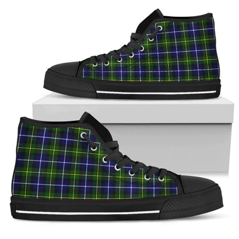 Tartan Canvas Shoes - Macneill Of Barra Modern High Top | Over 500 Tartans