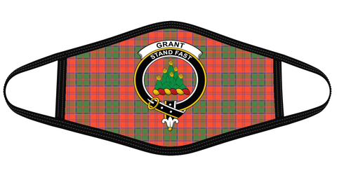 Grant Ancient Clan badge Tartan Mask K7