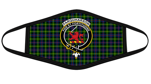 Image of Farquharson Modern Clan badge Tartan Mask K7