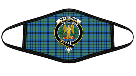 Falconer Clan badge Tartan Mask K7