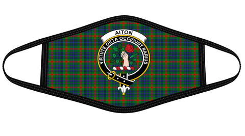 Aiton Clan badge Tartan Mask K7