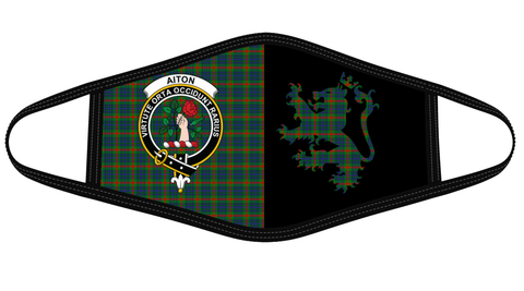 Aiton Clan Badge Lion Mask Tartan Version 2 K6