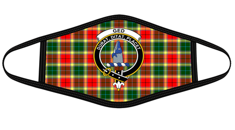 Gibbs Clan badge Tartan Mask K7
