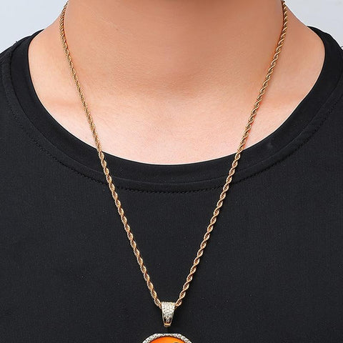 Haig Check Wings Necklace (Gold/White Gold) A7