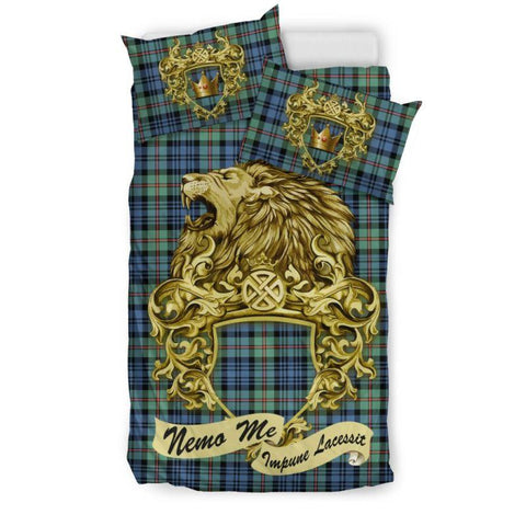 Scotland Lion Mackinlay Ancient Tartan Bedding Set D7 Bedding Set - Black / Twin Sets