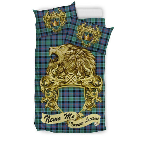 Scotland Lion Mactaggart Ancient Tartan Bedding Set D7 Bedding Set - Black / Twin Sets