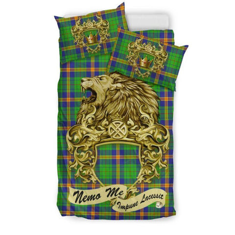 Scotland Lion New Mexico Tartan Bedding Set D7 Bedding Set - Black / Twin Sets