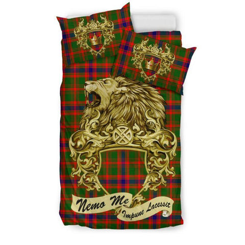 Scotland Lion Nithsdale District Tartan Bedding Set D7 Bedding Set - Black / Twin Sets