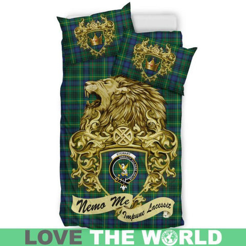 Scotland Lion Stewart Hunting Modern Tartan Bedding Set K7