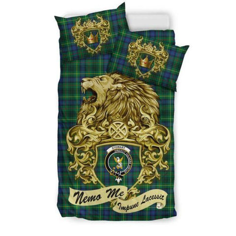 Scotland Lion Stewart Hunting Modern Tartan Bedding Set D7 Sets