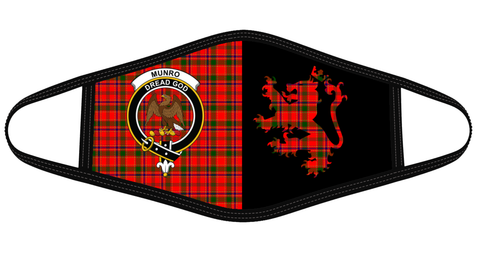 Image of Munro Modern Clan Badge Lion Mask Tartan Version 2 K6