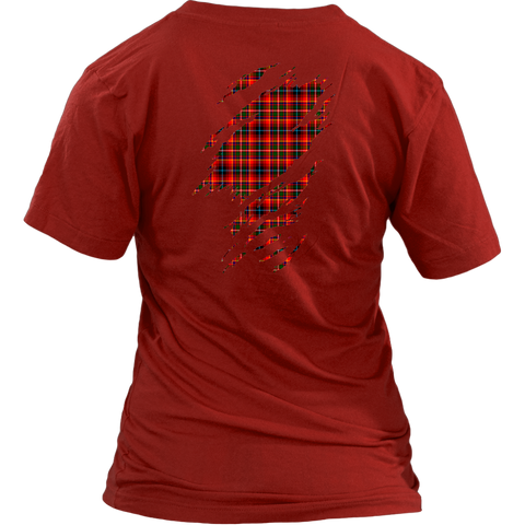 Image of Innes Modern Lives in me Tartan T Shirt K7