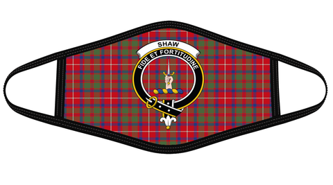 Image of Shaw Red Modern Clan badge Tartan Mask K7