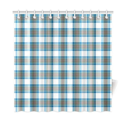 Tartan Shower Curtain - Stewart Muted Blue | Bathroom Products | Over 500 Tartans