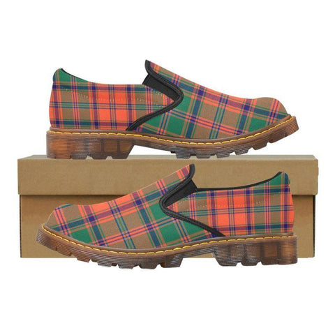 Tartan Martin Loafer - Stewart Of Appin Ancient | Men's Casual Loafers | Tartan shoes