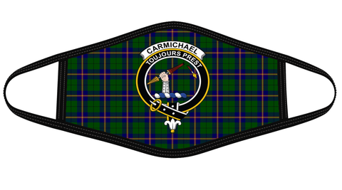 Image of Carmichael Modern Clan badge Tartan Mask K7