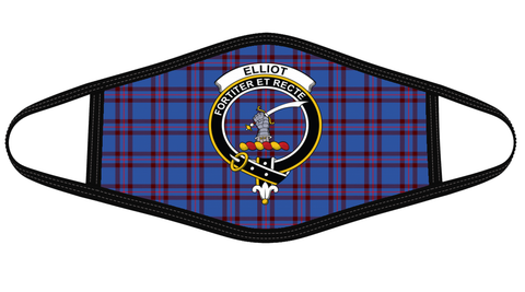 Elliot Modern Clan badge Tartan Mask K7