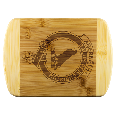 Abernethy Tartan Round Edge Wood Cutting Board | scottishclans.co