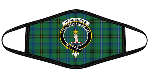 Henderson Ancient Clan badge Tartan Mask K7