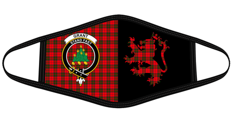 Grant Modern Clan Badge Lion Mask Tartan Version 2 K6